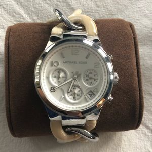 Michael Kors women's silver link watch